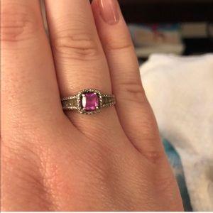 Zales Jewelry - Zales Pink Sapphire Ring